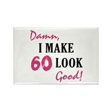 Hot 60th Birthday Rectangle Magnet