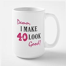 Hot 40th Birthday Large Mug