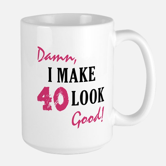Hot 40th Birthday Large Mug
