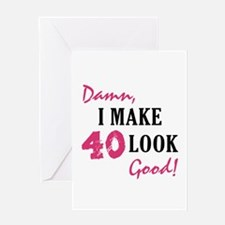 Hot 40th Birthday Greeting Card