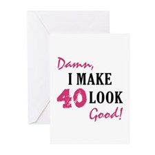 Hot 40th Birthday Greeting Cards (Pk of 20)