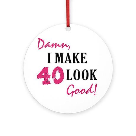 Hot 40th Birthday Ornament (Round)