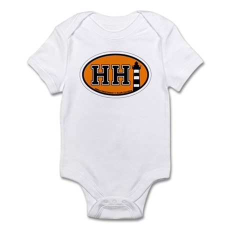 Hilton Head Island SC - Oval Design Infant Bodysui