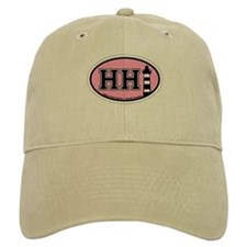 Hilton Head Island SC - Oval Design Baseball Cap