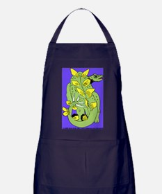 Stegosaur Blue Background Apron (dark)