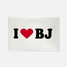 I LOVE BJ ~ Rectangle Magnet