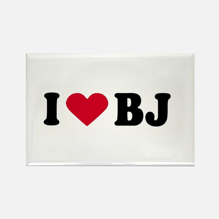 I LOVE BJ ~ Rectangle Magnet (10 pack)