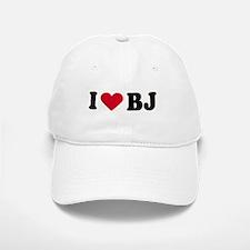 I LOVE BJ ~ Baseball Baseball Cap