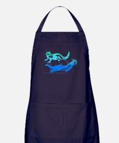 Otters Aquamarine Apron (dark)