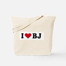 I LOVE BJ ~  Tote Bag