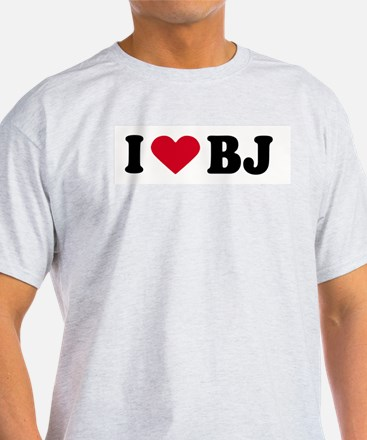 I LOVE BJ ~  Ash Grey T-Shirt