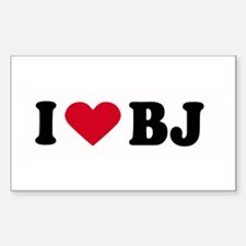 I LOVE BJ ~ Rectangle Decal