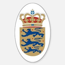Denmark Coat of Arms Oval Decal