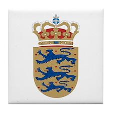 Denmark Coat of Arms Tile Coaster