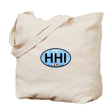 Hilton Head Island SC - Oval Design Tote Bag