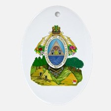Honduras Coat of Arms Oval Ornament