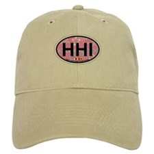Hilton Head Island SC - Oval Design Baseball Baseball Cap