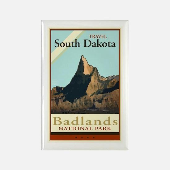 Travel South Dakota Rectangle Magnet