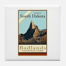 Travel South Dakota Tile Coaster