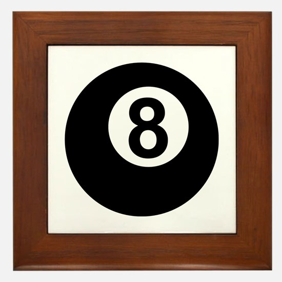 8 Ball Framed Tile