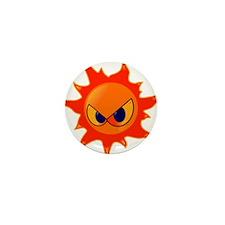 Angry Sun Mini Button