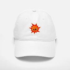 Angry Sun Baseball Baseball Cap
