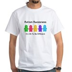 Autism Ok Difference White T-Shirt