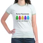 Autism Ok Difference Jr. Ringer T-Shirt