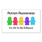 Autism Ok Difference Rectangle Sticker