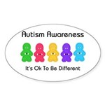 Autism Ok Difference Oval Sticker