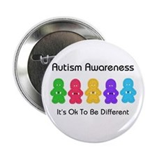 "Autism Ok Difference 2.25"" Button (10 pack)"