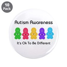 """Autism Ok Difference 3.5"""" Button (10 pack)"""