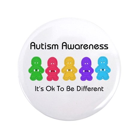 "Autism Ok Difference 3.5"" Button"