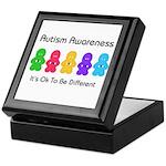 Autism Ok Difference Keepsake Box