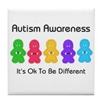 Autism Ok Difference Tile Coaster