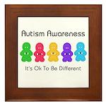 Autism Ok Difference Framed Tile