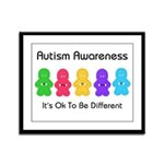Autism Ok Difference Framed Panel Print