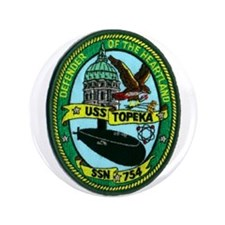 "USS TOPEKA 3.5"" Button (100 pack)"