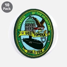 """USS TOPEKA 3.5"""" Button (10 pack)"""