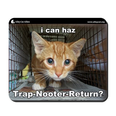 Alley Cat Allies LOLcats Mousepad - I can haz TNR?