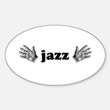 Jazz Hands Oval Decal