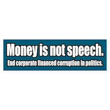 End Corporate Political Corruption Bumper Bumper Sticker