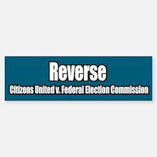 Citizens United v Federal Election Bumper Bumper Bumper Sticker