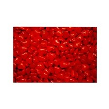 Red Valentine Candy Rectangle Magnet