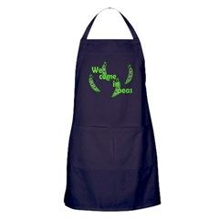 We Come In Peas Apron (dark)