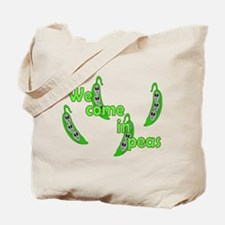 We Come In Peas Tote Bag