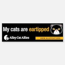 """My cats are eartipped"" Bumper Bumper Bumper Sticker"