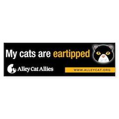 """My cats are eartipped"" Bumper Bumper Sticker"