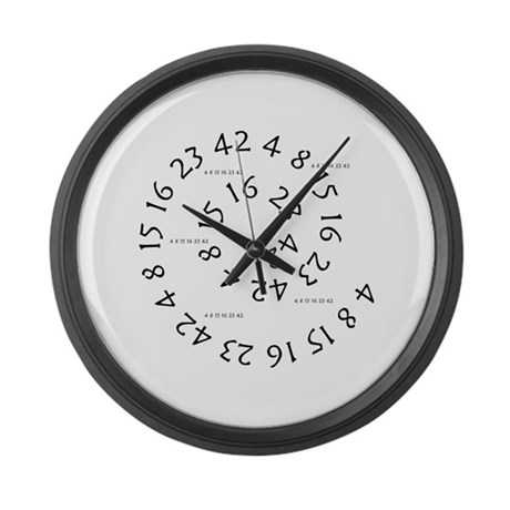Lost numbers Large Wall Clock