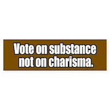 Vote on Substance Bumper Bumper Sticker